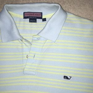 Light green and blue Vineyard Vines Polo